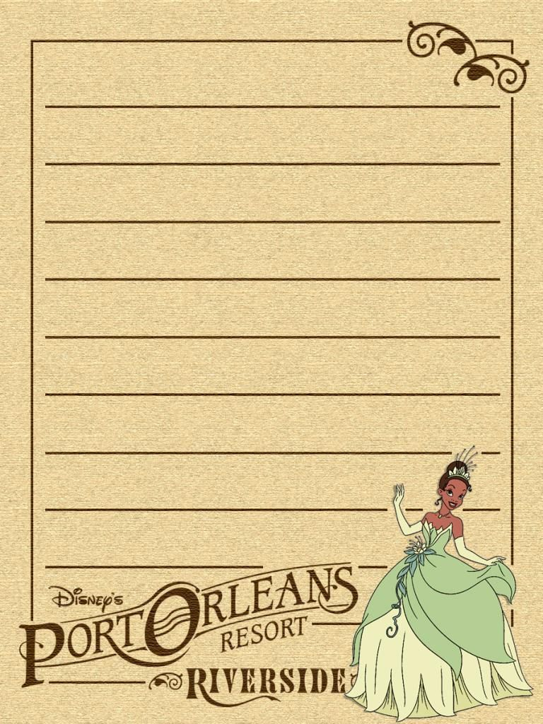 "Port Orleans - Riverside - Tiana - Project Life Disney Journal Card - Scrapbooking ~~~~~~~~~ Size: 3x4"" @ 300 dpi. This card is **Personal use only - NOT for sale/resale** Logos/clipart belong to Disney."