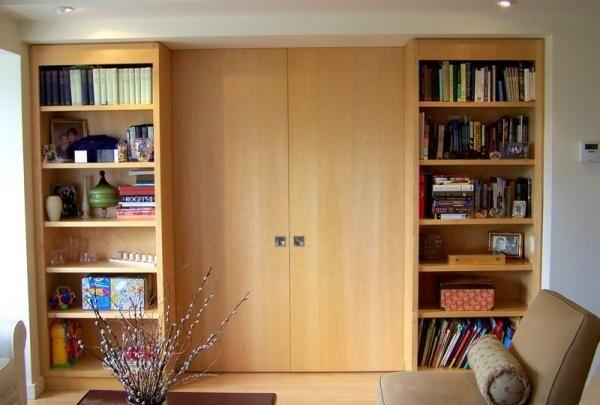 Pin On Bedroom Ideas Bookshelf room divider with door