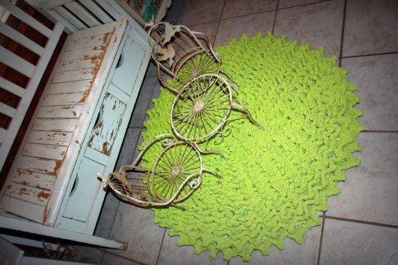 Bath Mat Rug Lime Green