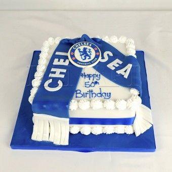 Awesome Chelsea Cake Chelsea Football Cake Soccer Birthday Cakes Personalised Birthday Cards Veneteletsinfo