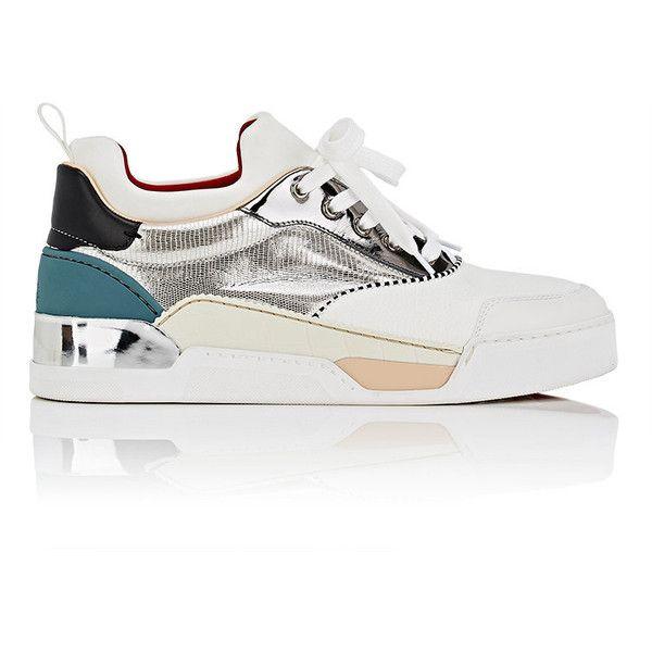 c5bba9f2fa2 Christian Louboutin Men s Aurelien Flat Mixed-Material Sneakers ...