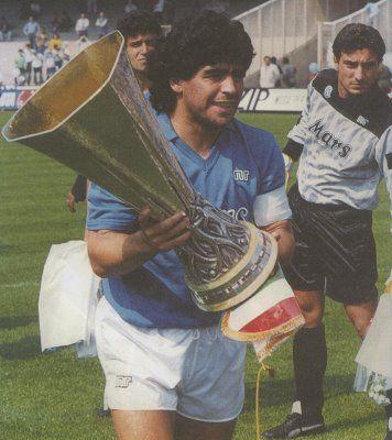 Diego Maradona Napoli Uefa Cup Elnaple 1926 Fanshop T Shirt Sweatshirts And Gadgets For Napoli Fans Http Diego Maradona Good Soccer Players Soccer Fans