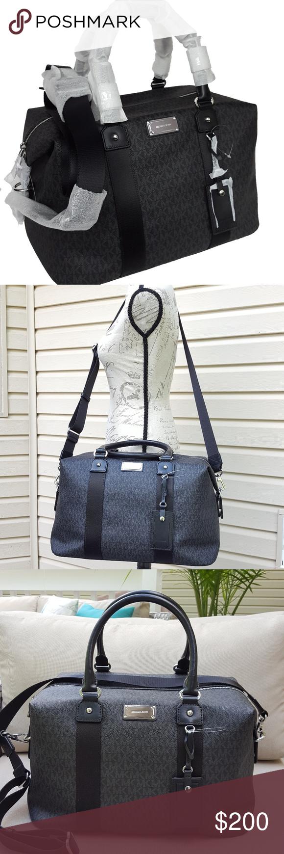 5a104827b6153 NWT Michael Kors LG travel bag weekender black MK 100% guaranteed authentic  NWT Michael Kors