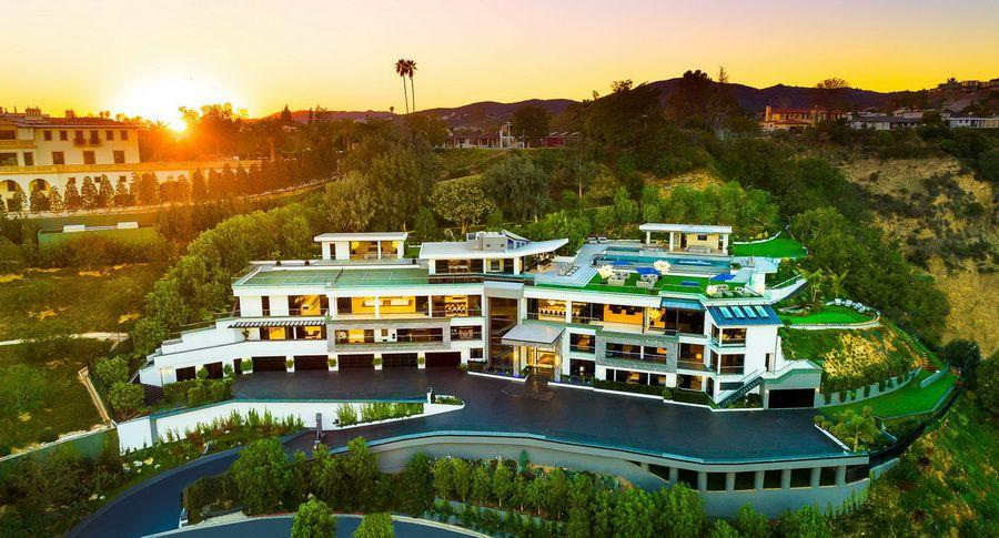 100 000 000 Modern Contemporary Bel Air Mega Mansion Luxury Architecture Mansions Mega Mansions Mansions Luxury