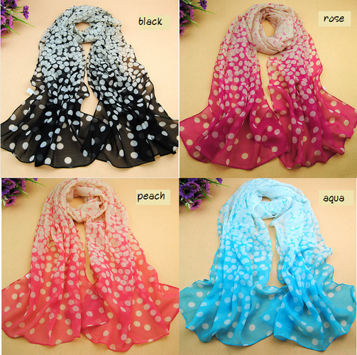'U Pick Color Pretty Dots Soft & Flowing Scarf' is going