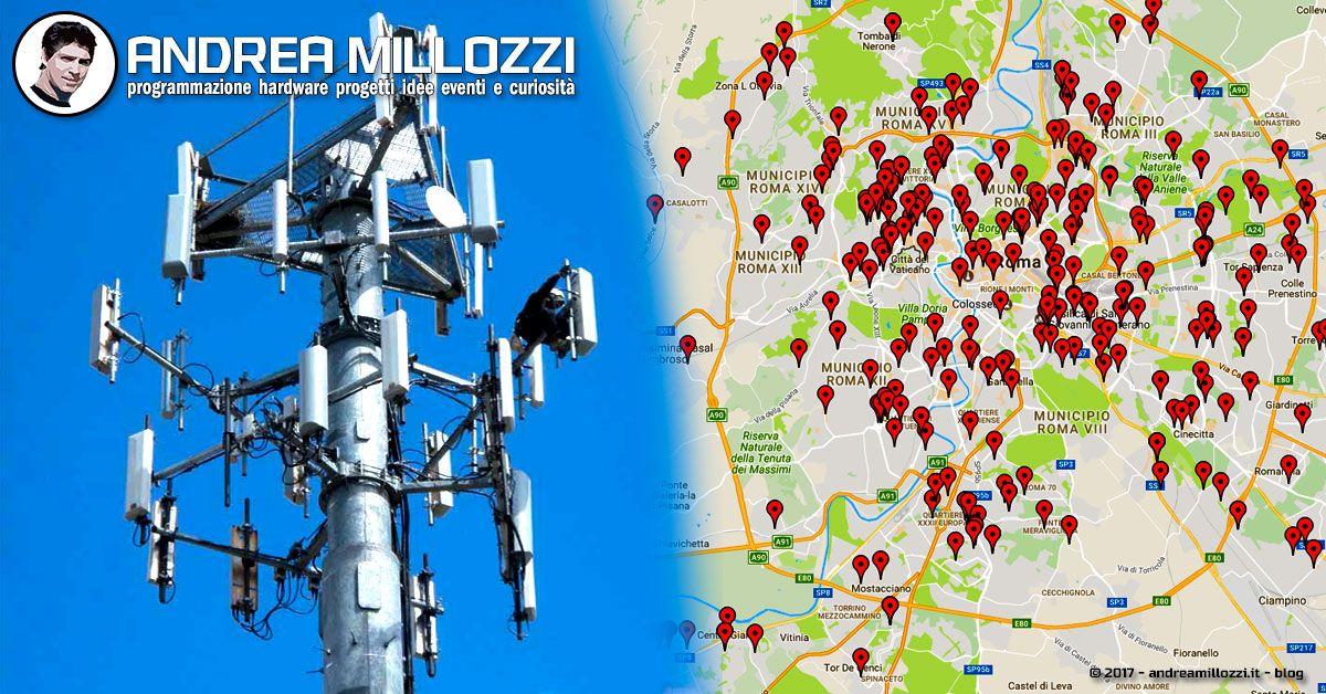 Elettromagnetismo e salute: guarda dove sono ubicate le antenne di telefonia nel tuo comune ed impara a realizzare una mappa fai-da-te partendo dagli Open Data in formato testuale   Andrea Millozzi blog
