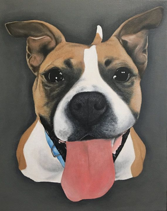 11x14 Custom Pet Portrait Painting by DesignsByPlannerAng on Etsy