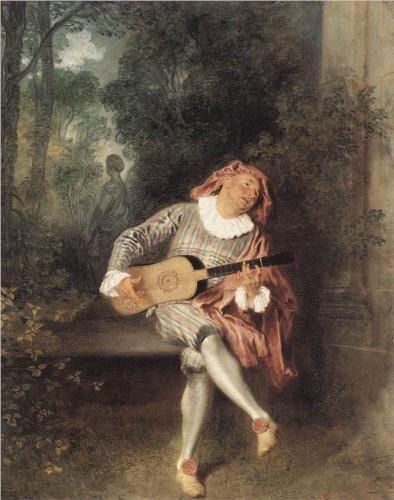 Mezzetin - Antoine Watteau, 1719
