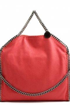 Stella McCartney falabella three chain fluoro pink tote falabella tre chain  corallo Stella McCartney bags shop online 05b42097f5391