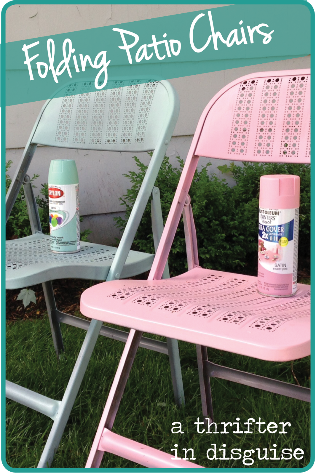 Great A Thrifter In Disguise: DIY Metal Folding Patio Chairs Makeover