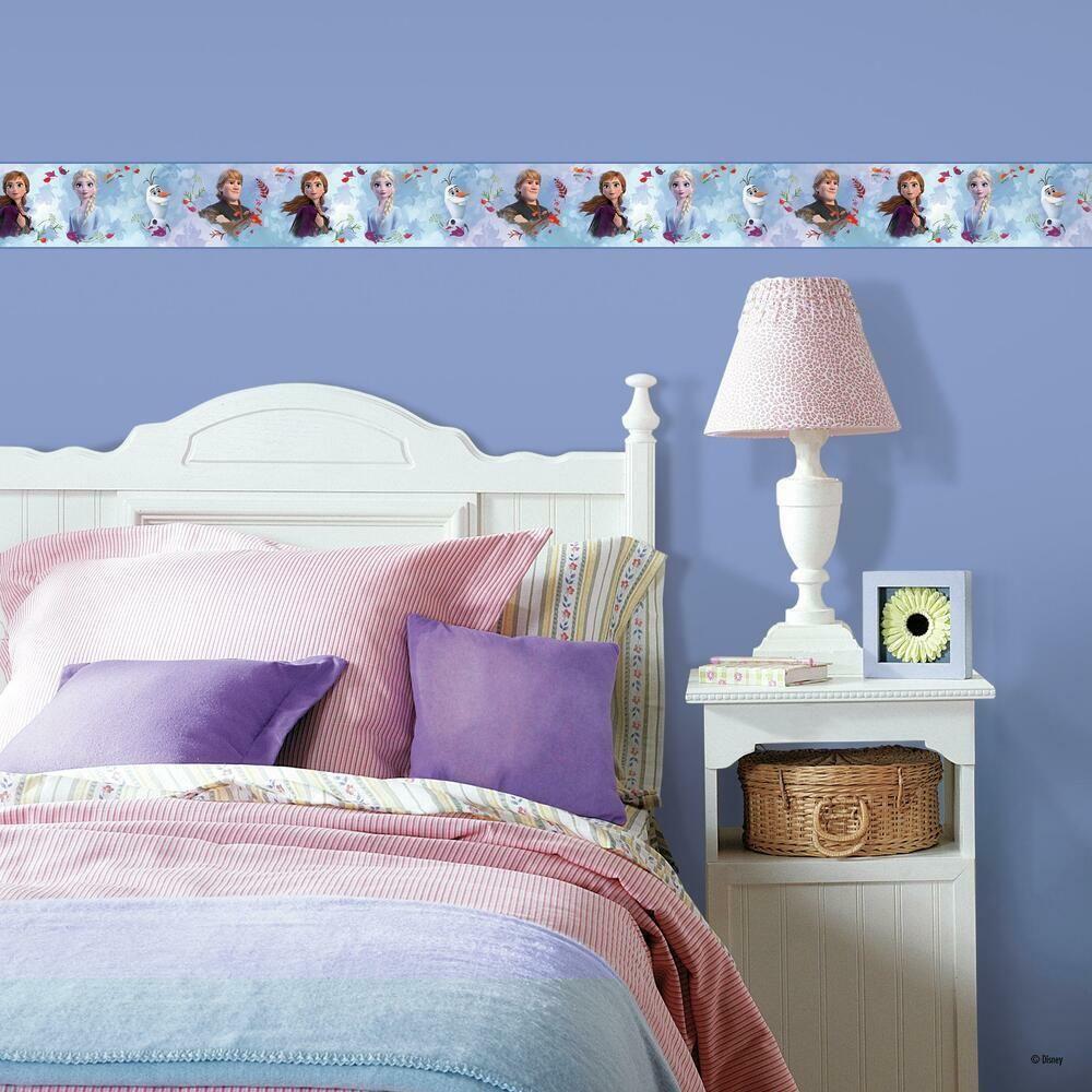 Frozen 2 Peel And Stick Border In 2021 Frozen Bedroom Decor Frozen Bedroom Roommate Decor