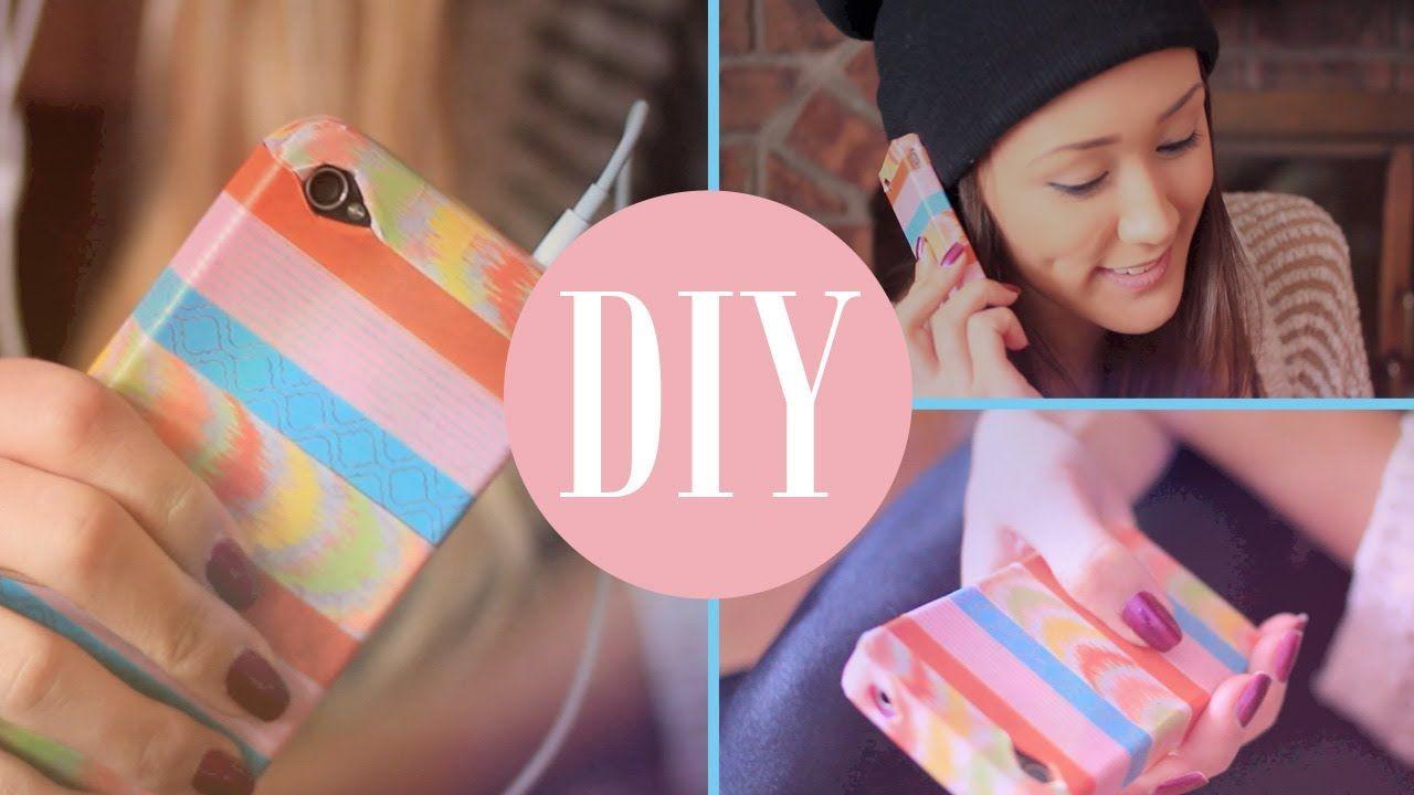 Diy Custom Washi Tape Phone Case Laurdiy Diy Phone Case Diy