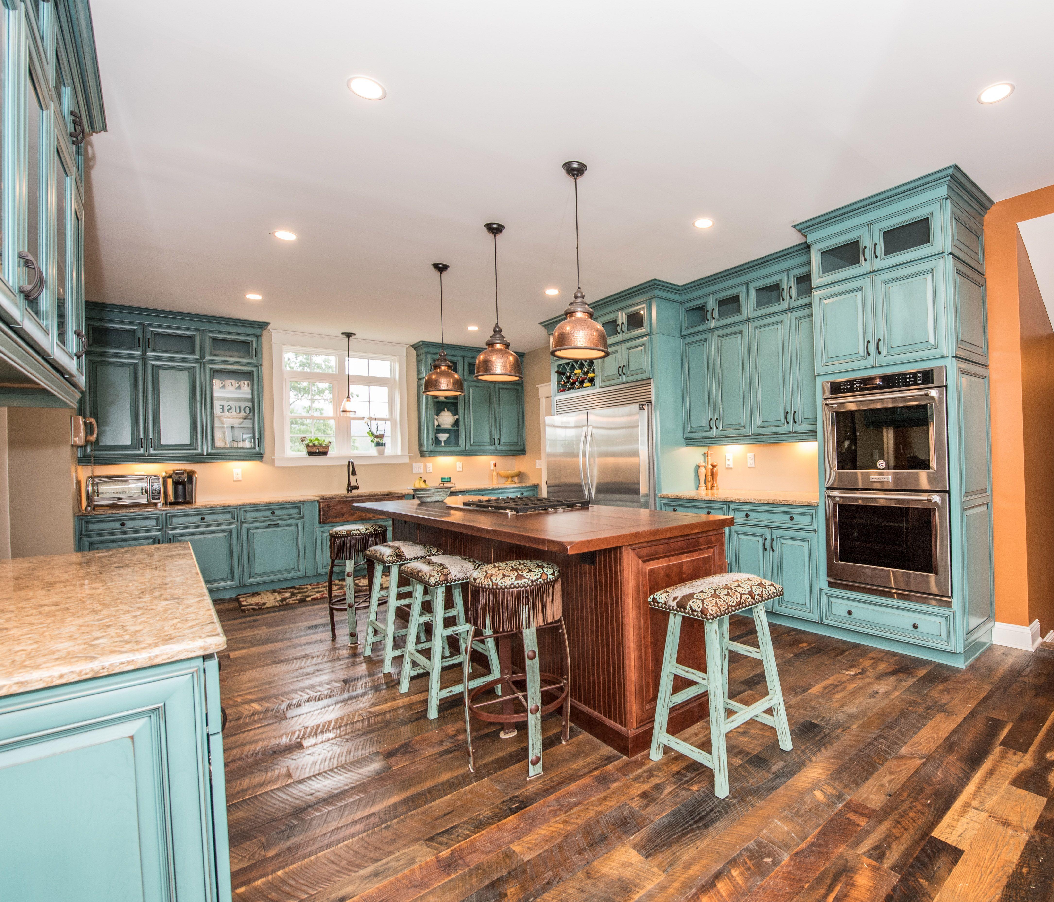 What Color Is Your Dream Kitchen Custom Kitchens Aqua Kitchen Kitchen Inspirations