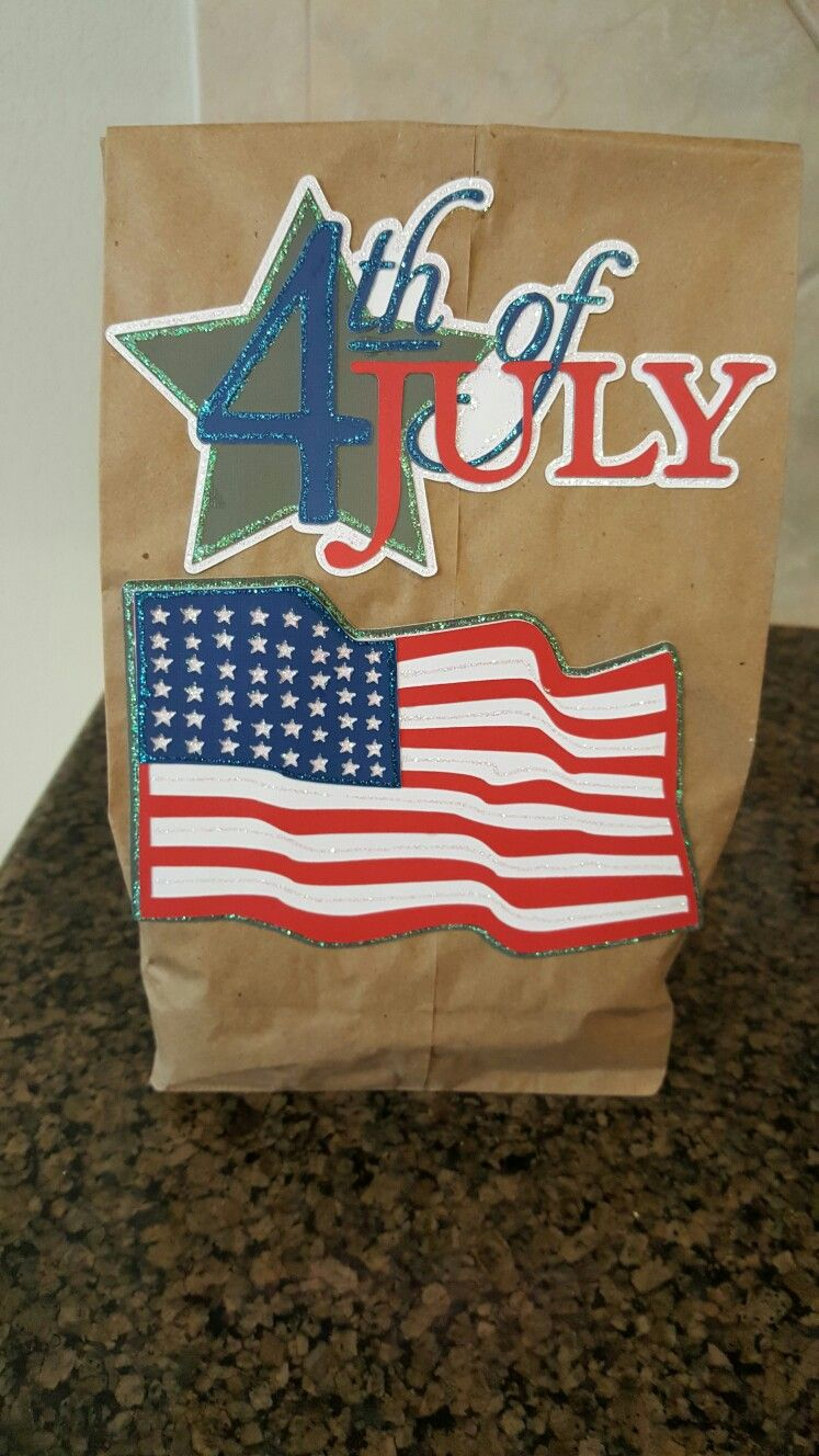 4th of July sack lunch