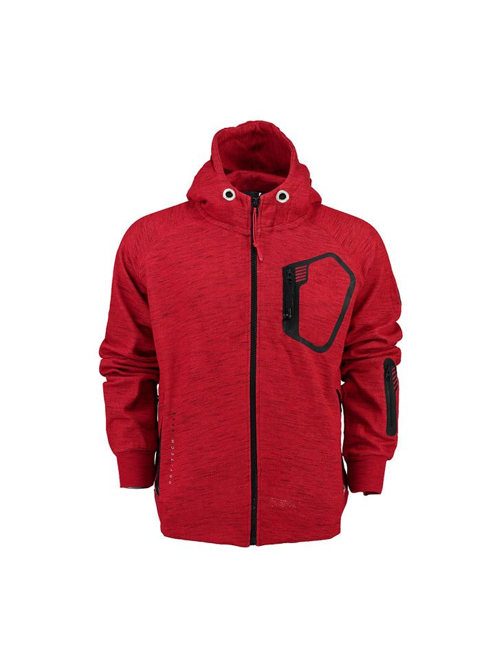 Geographical Norway Sweatvest 'Ferio' rood | Kleding