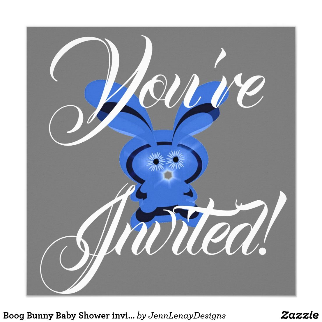 Boog bunny baby shower invitation new 2018 invitations postage boog bunny baby shower invitation stopboris Image collections