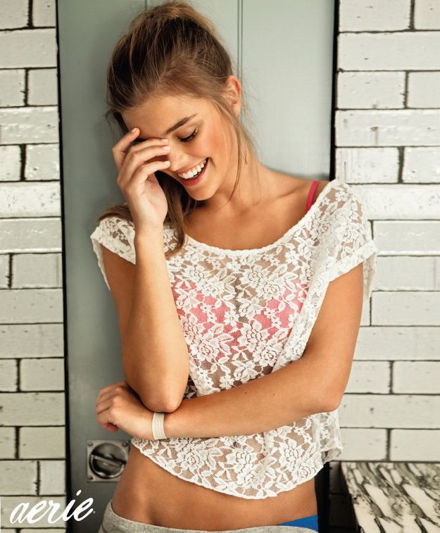 Nina Agdal: Aerie Holiday AW12 Lingerie Collection