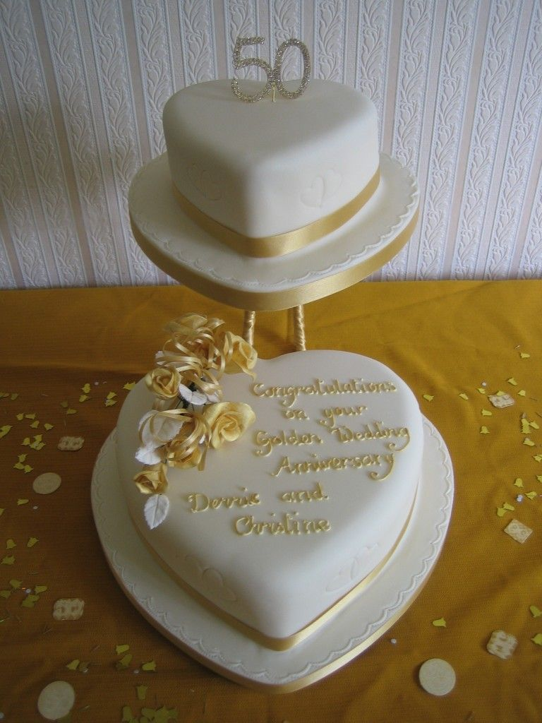 50th Wedding Anniversary Party Cake Decoration