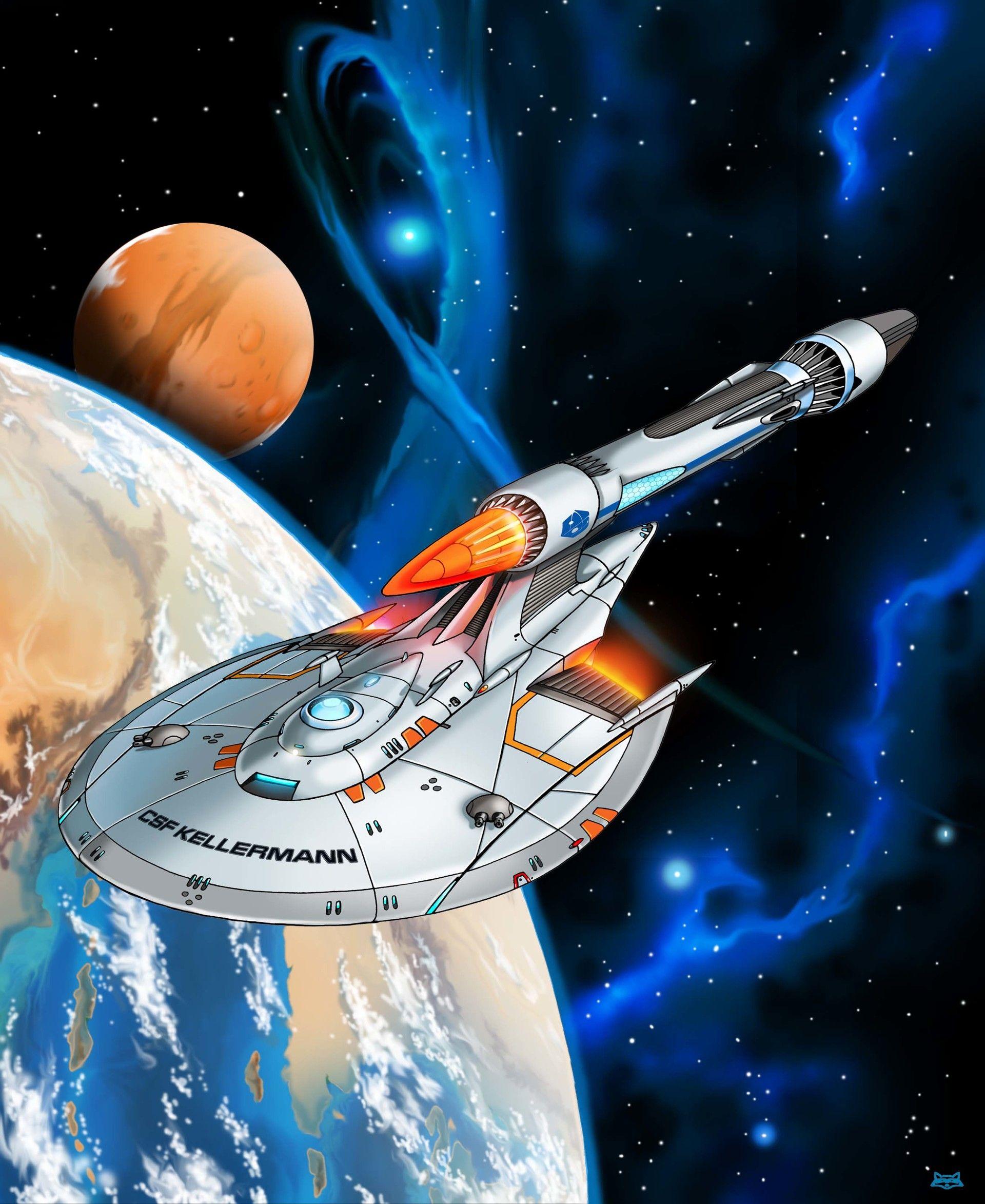 ArtStation - Starship Kellermann, Lee Madison