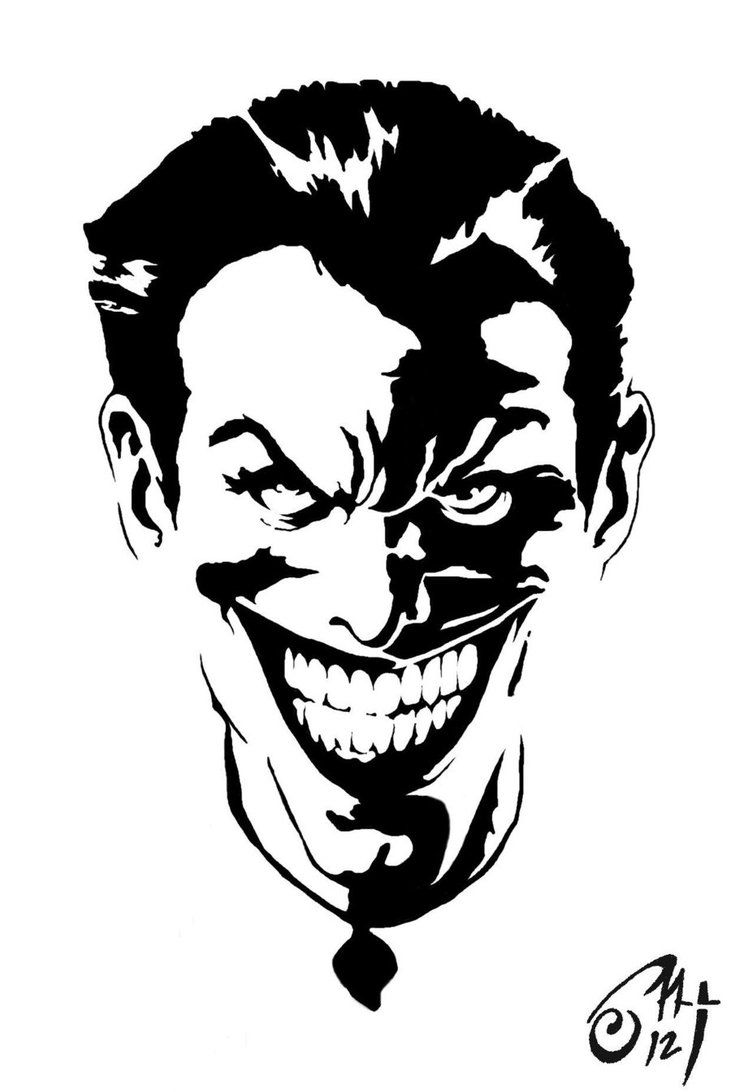 Bike stickers design joker - Joker Face Stencils Wesharepics