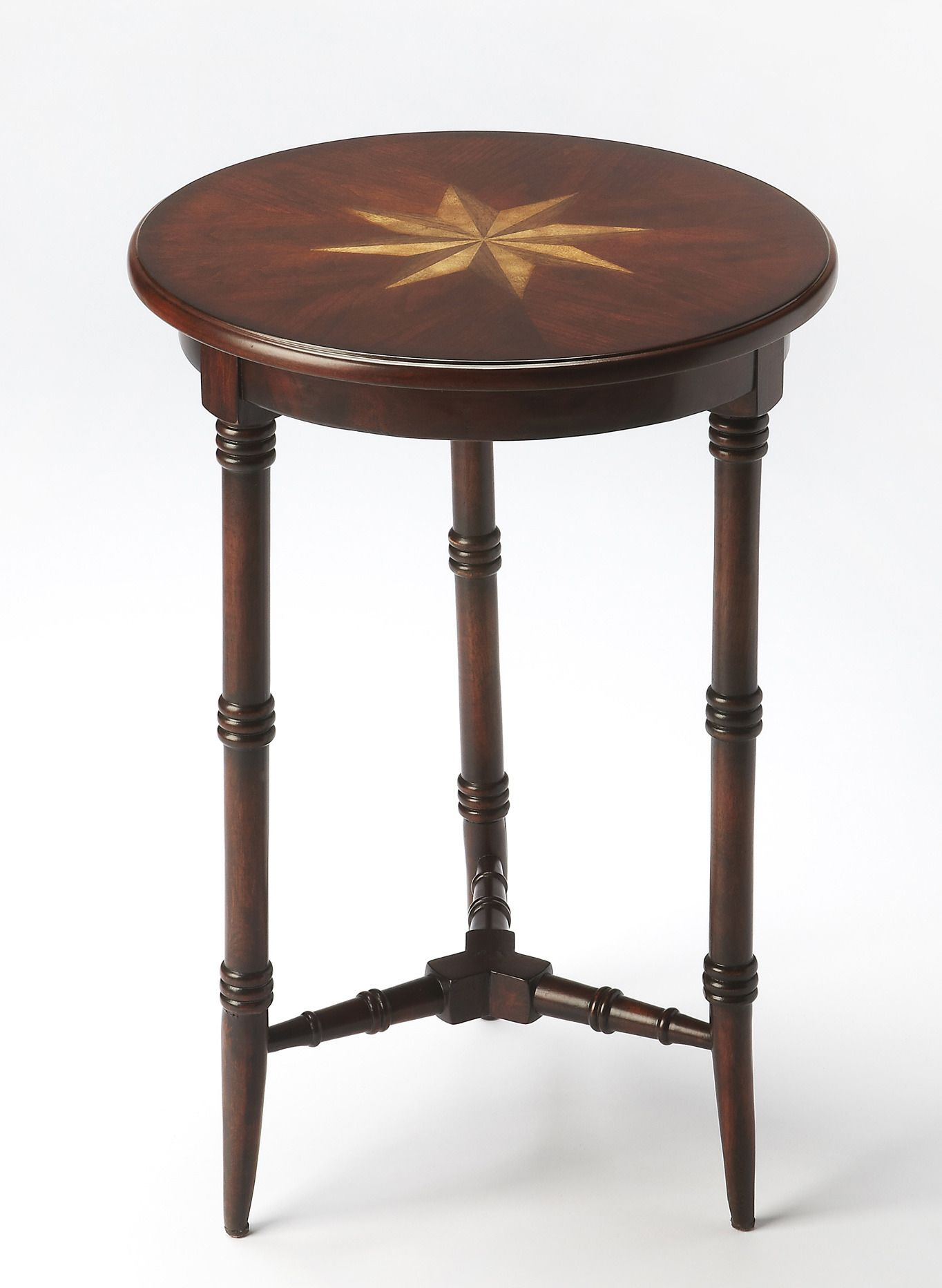 Best Round Cherry Accent Table Butler Specialty Company 640 x 480