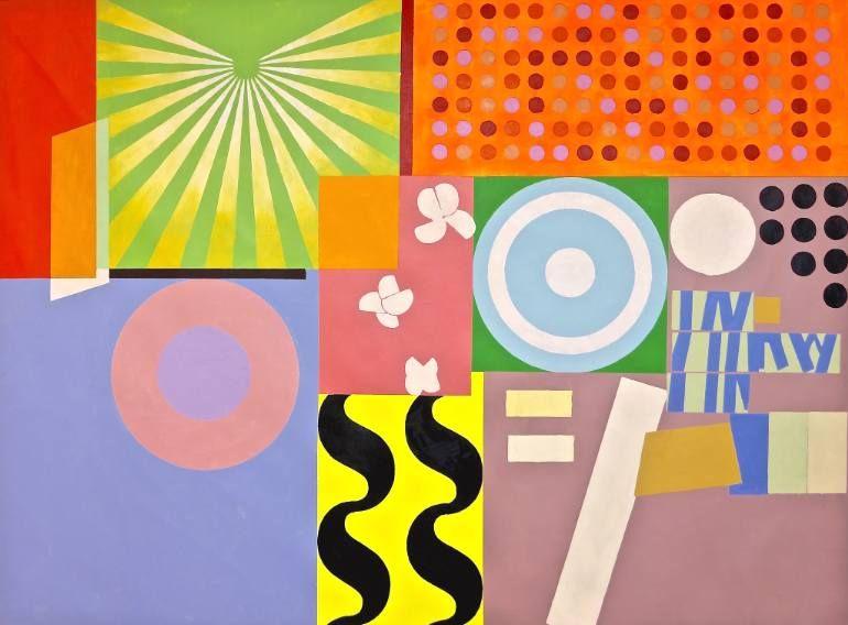 Artist: Julien Porisse; Title: Brazilian Promenade; Medium: Acrylic and Oil on Canvas. A Saatchi Art Artist.