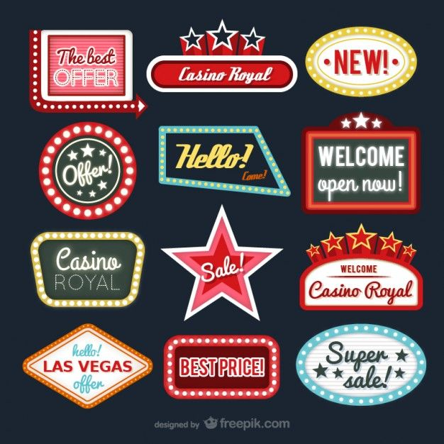Casino and Stores Label Collection Free Vector Free Vectors - abel templates psd