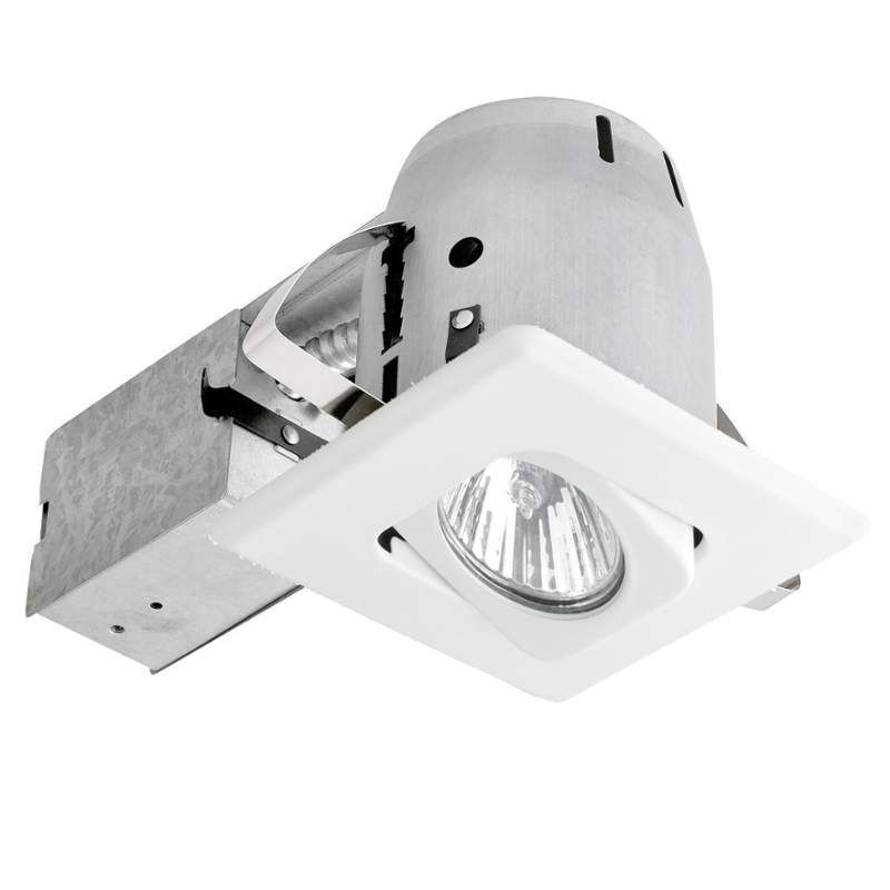 Globe Electric 90038 1 Light Recessed Lighting Kit Includes Trim Housing Can White Lights