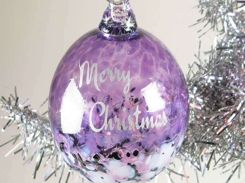 Amazing Purple And Silver Christmas Tree Decorations For