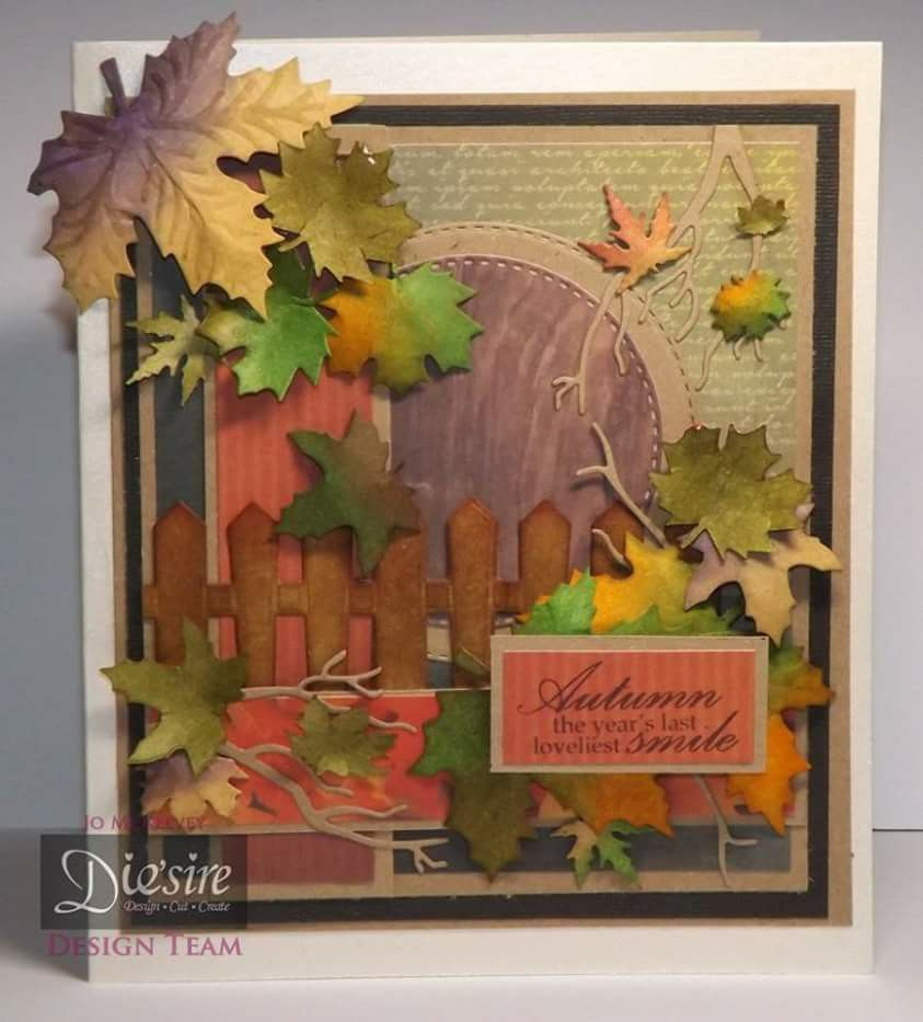 Shh........ I just had to share this card made with the Autumn Morning collection from Sara! I can't wait to watch the show tonight! (8pm on HOCHANDA)