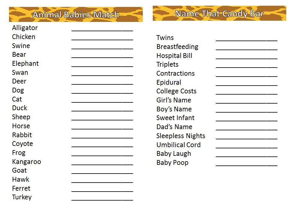 Lion King Baby Shower Games   Card Style (Inside)