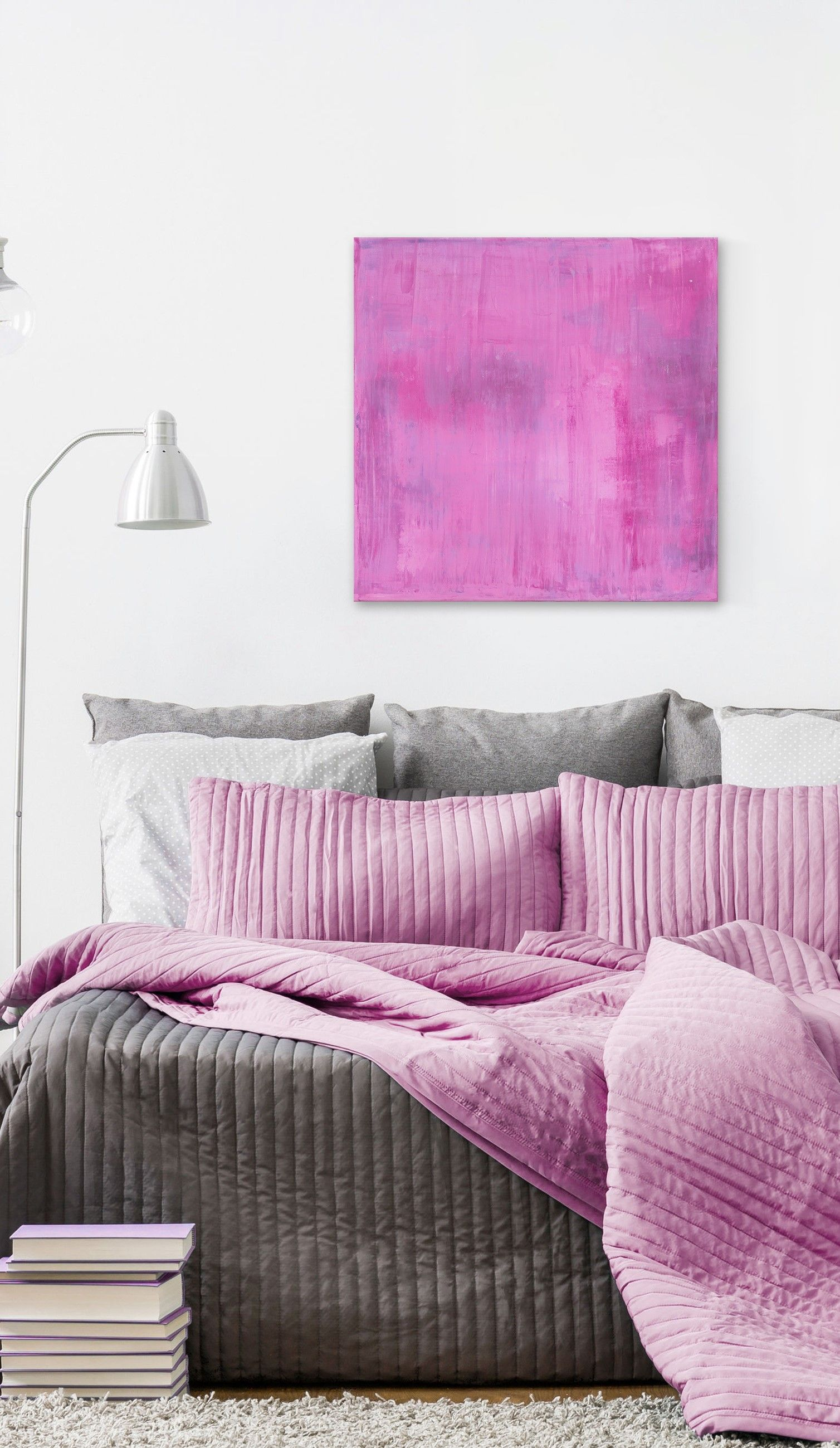 Pink Obsession Watercolour Painting Print On Wrapped Canvas Master Bedroom Colors Small Room Bedroom Master Bedrooms Decor