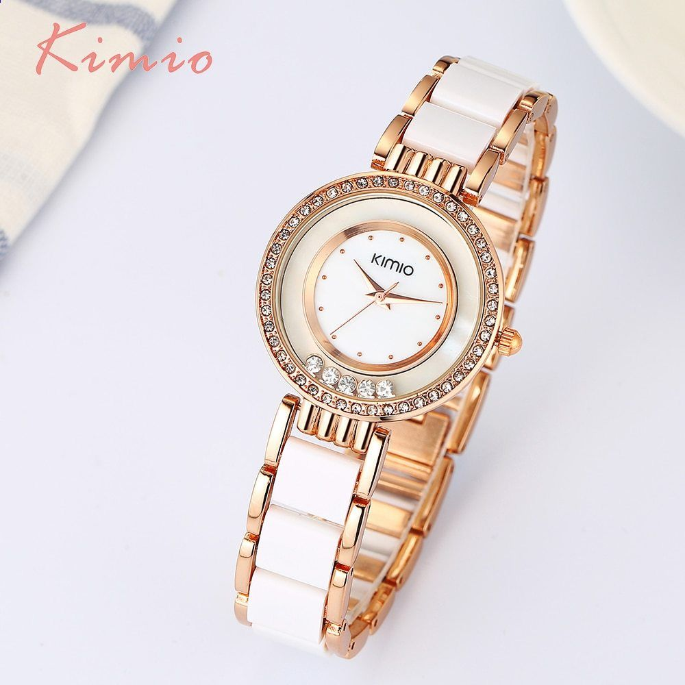 1d5b186eab9 Dámské hodinky KIMIO Dámské hodinky Módní křišťál Dámské hodinky Dámské  hodinky Náramky Quartz Luxusní dámské hodinky