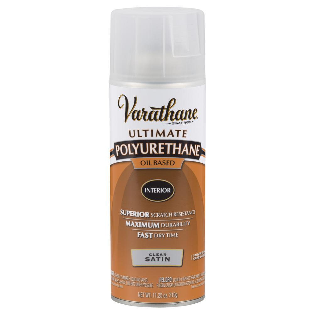 Varathane 11 Oz Clear Satin Oil Based Interior Polyurethane Spray 342077 Urethane Resin Aerosol Spray Paint Bronze Spray Paint
