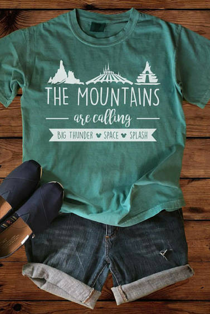 Disney Shirts The Mountains Are Calling Comfort Colors Disney