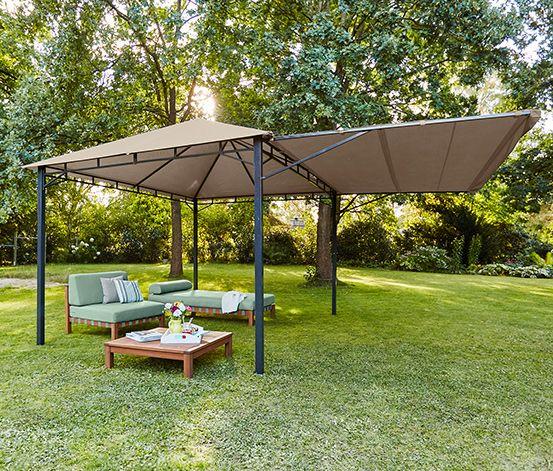 pavillon mit markise tchibo bahce pinterest markise pavillon und garten pavillon. Black Bedroom Furniture Sets. Home Design Ideas