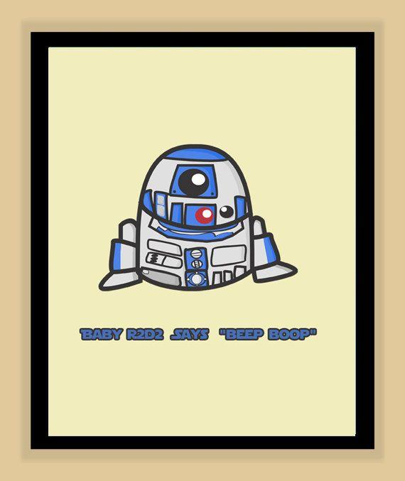 Cute Star Wars Nursery Prints