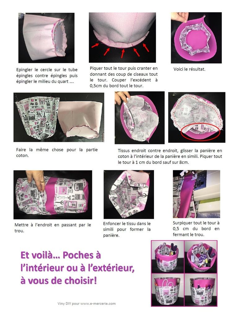Tuto couture pani re ronde multi poches tuto couture diy for A ronde couture