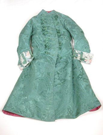Frock coat, England, 1726 - 1735, Silk damask, silk, taffeta, brocade, linen and wool Dudmaston, Shropshire (Accredited Museum) Dudmaston © National Trust / Claire Reeves