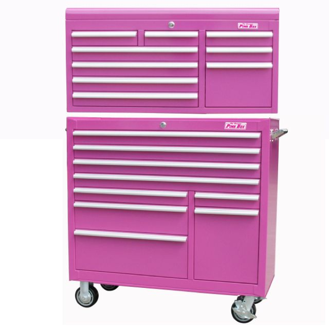 I want one for makeup!!- Pink tool chest