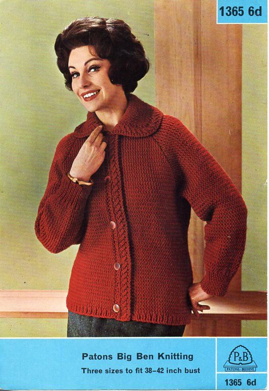 da4322bea6d womens jacket knitting pattern pdf ladies cardigan lumber jacket vintage  50s 38-42 inch chunky bulky 12ply pdf download by coutureknitcrochet on Etsy