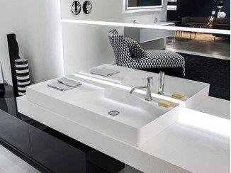 lavabo sobre encimera rectangular de flumood simplo lavabo rectangular antonio lupi design