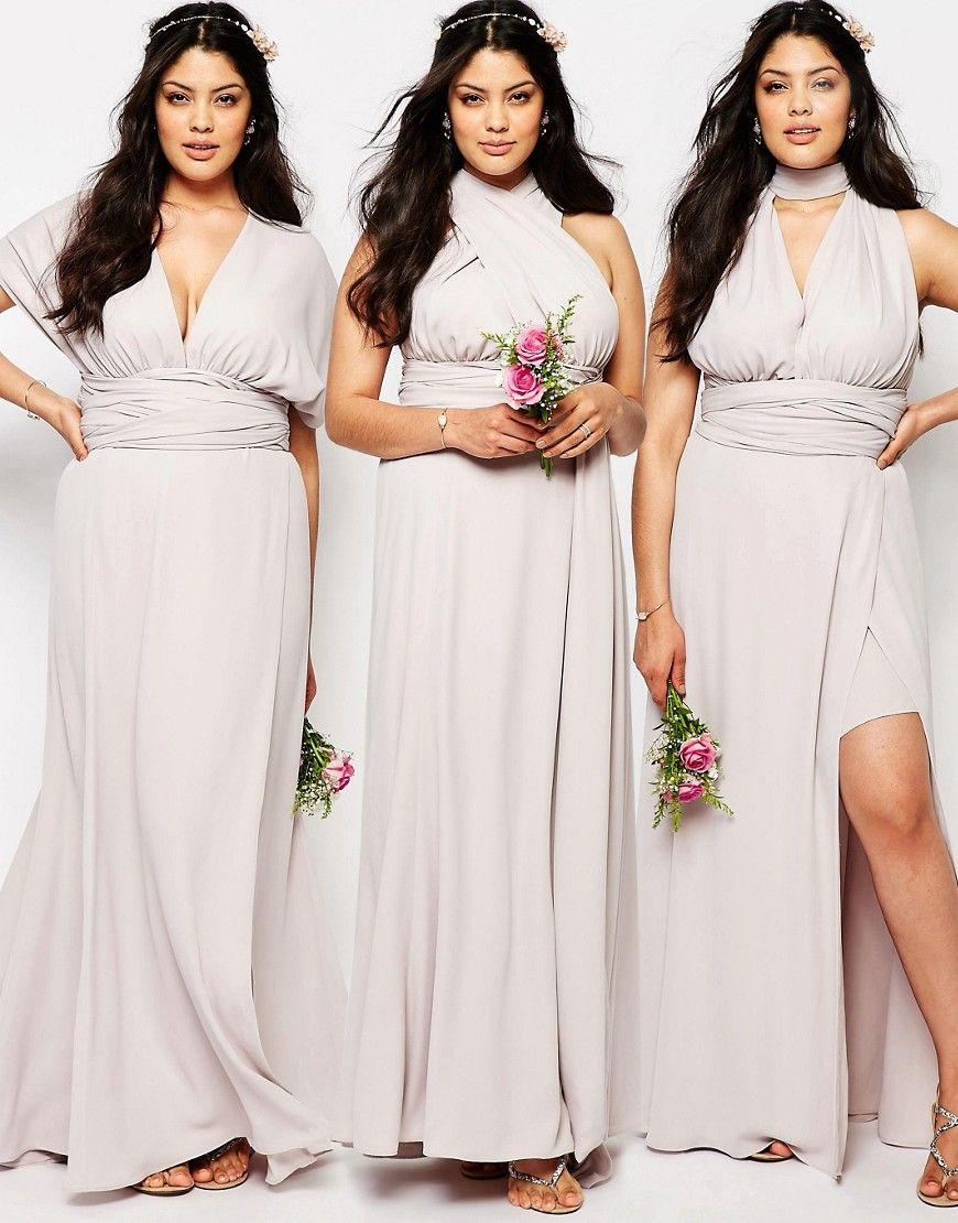 Fame And Partners Plus Ainsley Multiway Dress At Asos Com Blush Bridesmaid Dresses Multi Way Dress Infinity Dress Bridesmaid