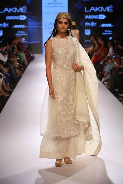 Ritu Kumar Chikankari Suit With Palazzo Indian Inspired Fashion Fashion Lakme Fashion Week