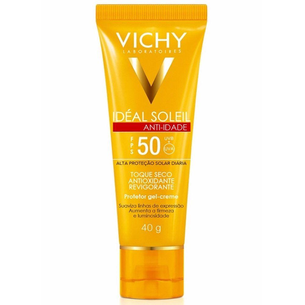Protetor Solar Facial Vichy Ideal Soleil Antiidade Toque Seco
