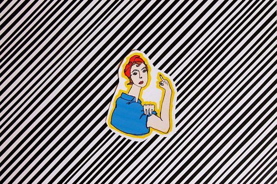 Sticker We fuckin' can do it / Autocollant féministe /