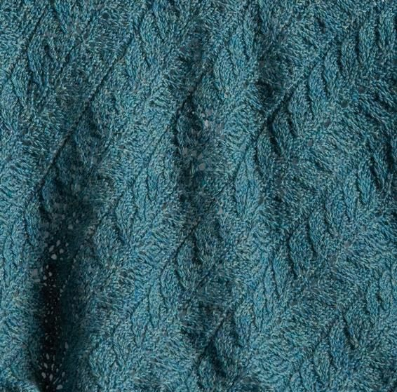 Twin Leaf Baby Blanket Knitting Patterns And Crochet Patterns From