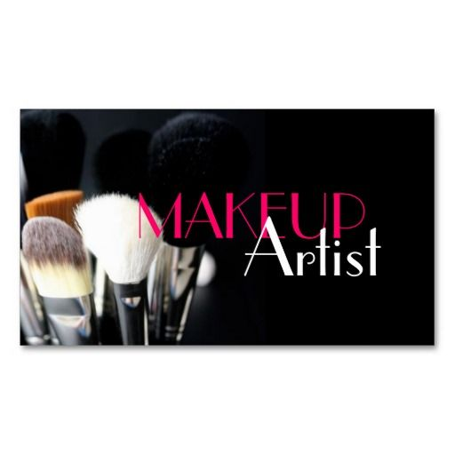 Makeup Artist Nails Cosmetology Business Card Standard Business
