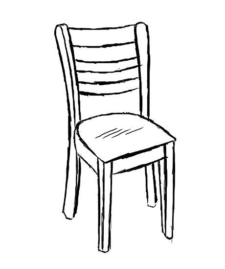 How To Draw A Chair Chair Drawing Art Chair Drawing Furniture
