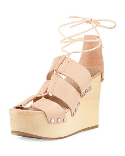 e3d07d6ee92c X328A Loeffler Randall Ines Leather Lace-Up Wedge Sandal